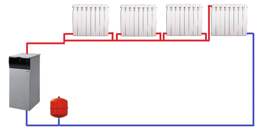 однотрубная схема отопления дома